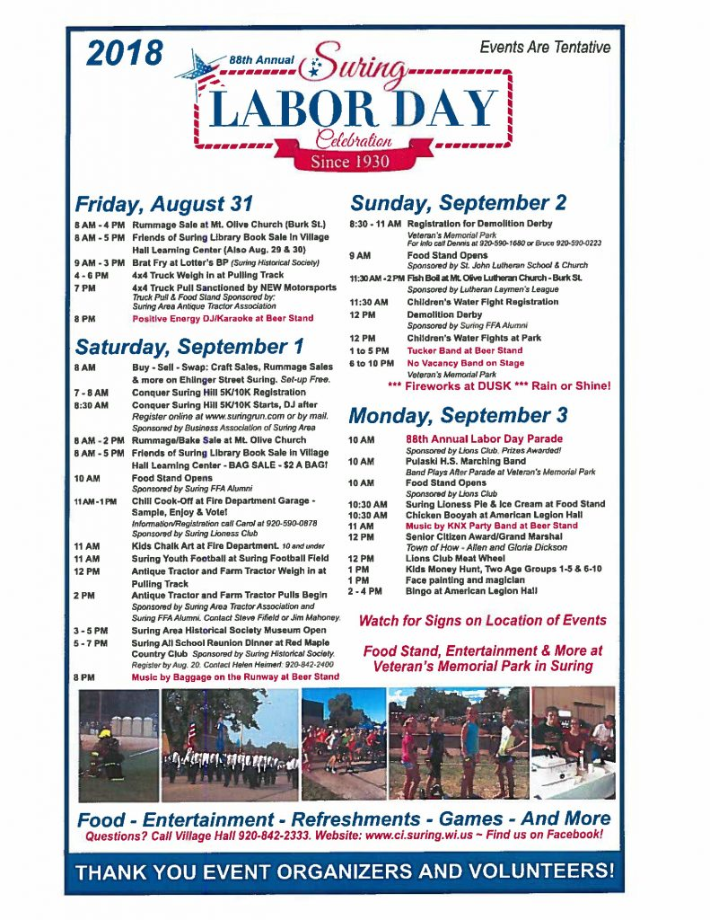 labor day 2018 events madison wi